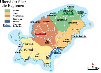 Ibiza Karte Strande.Ibiza Regionen