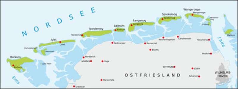Nordfriesische Inseln Karte.Reihenfolge Der Ostfriesischen Inseln Ein Merkspruch