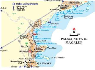 Mallorca Karte Strande.Palma Nova Mallorca